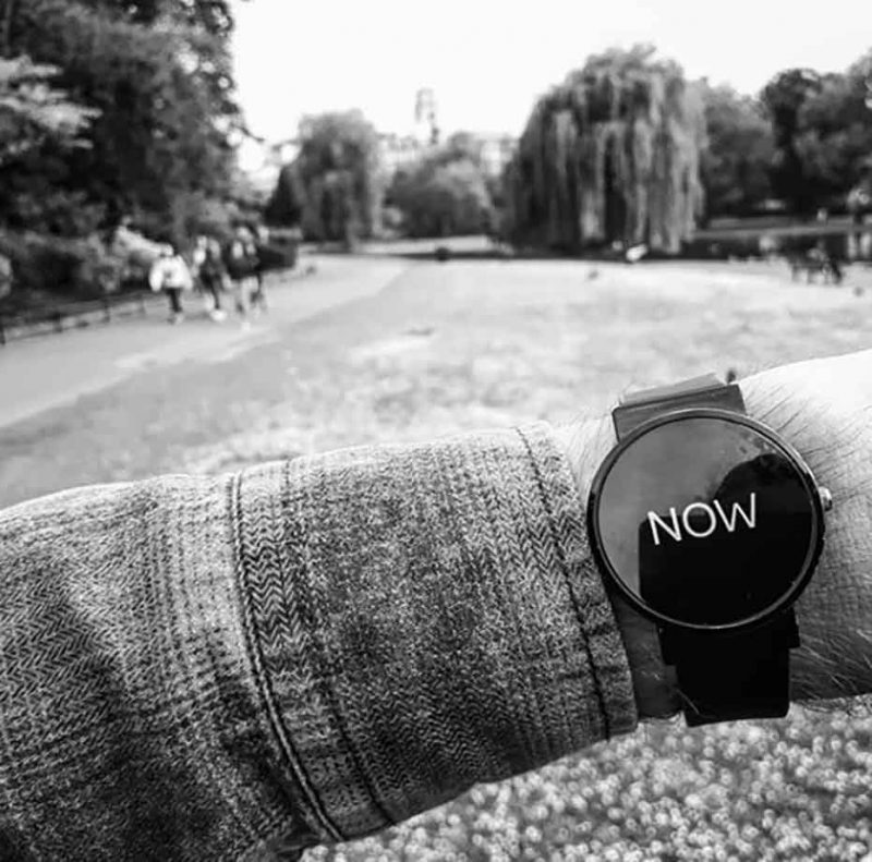 Watch That says Now - lifestyle outdoors photo