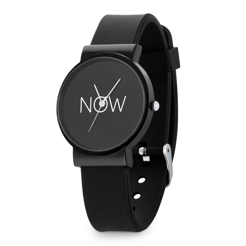 NOW Watch Black - watch that just says NOW