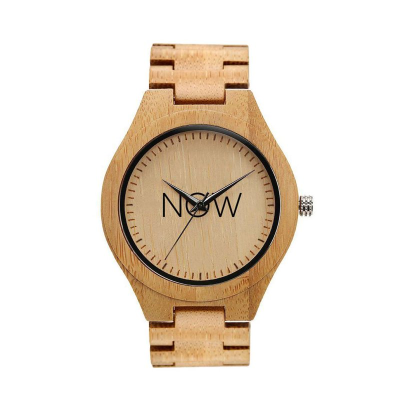 Now Watch Wooden - Bamboo