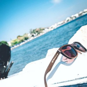 Now Watch wooden frame sunglasses