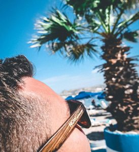 Now watch bamboo frame sunglasses