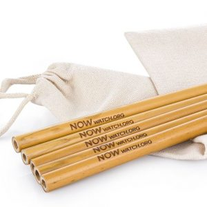 NOW bamboo drinking straws