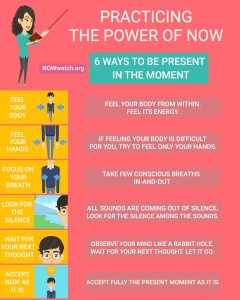 infographic practicing the power of now
