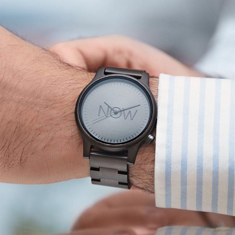 NOW Watch Black Sandalwood wooden men's watch