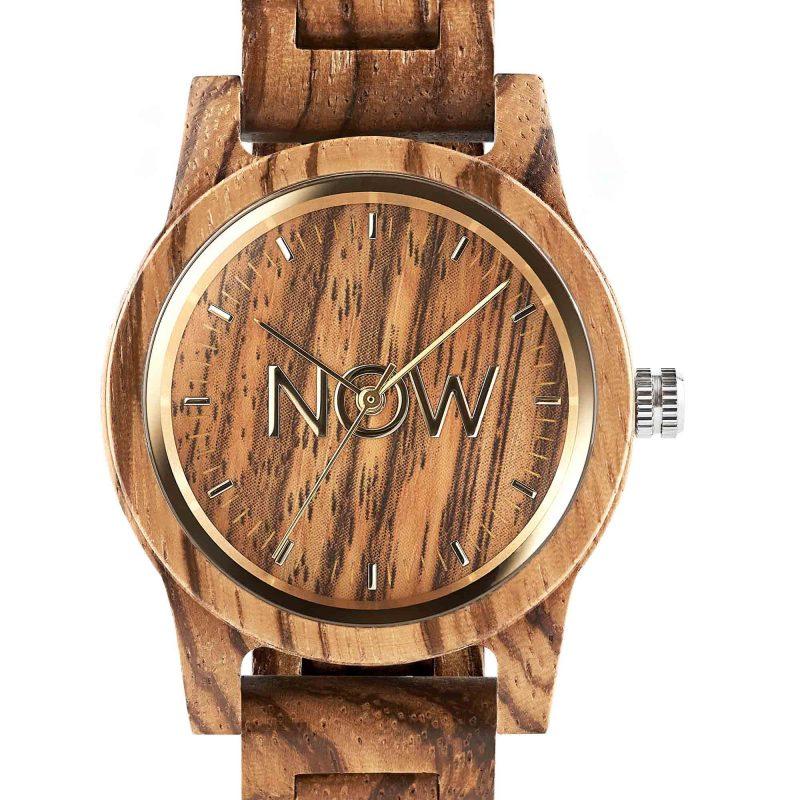 NOW Watch Sandalwood Wooden Unisex Watch