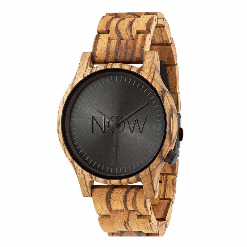 NOW watch men wooden zebrawood