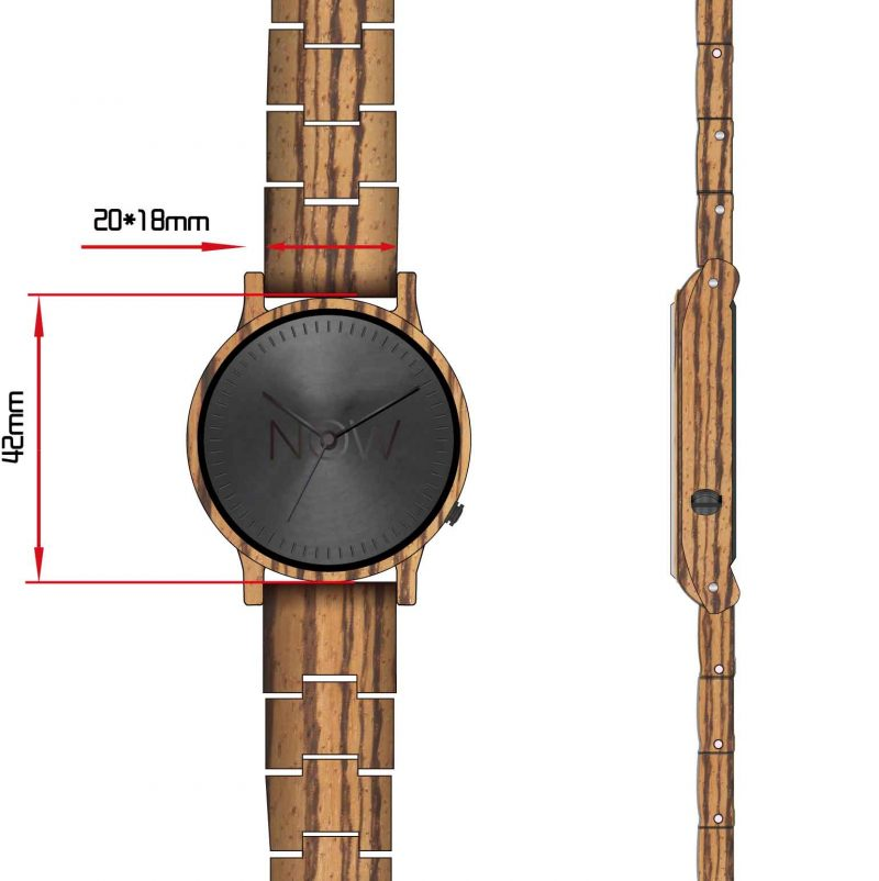 Now Watch Zebra Wood Dimensions