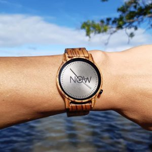Now Watch Wooden - Zebrawood lifestyle pic