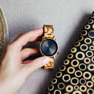 Now Watch Zebrawood woman's wooden watch