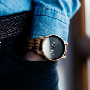 Wood Watch Zebrawood - Now Watch