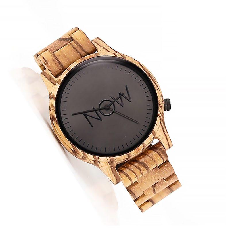 Wooden NOW Watch - Men's Wood Watch Zebrawood
