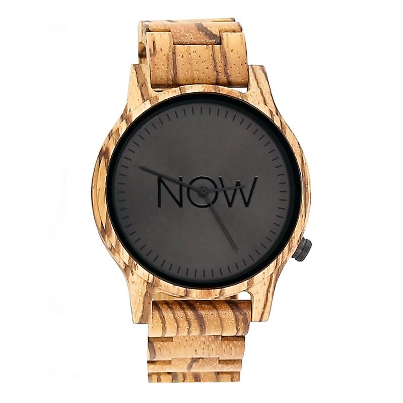 Wooden NOW Watch - Zebrawood - Men's watch