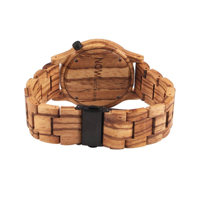 Wooden Now Watch Back Side