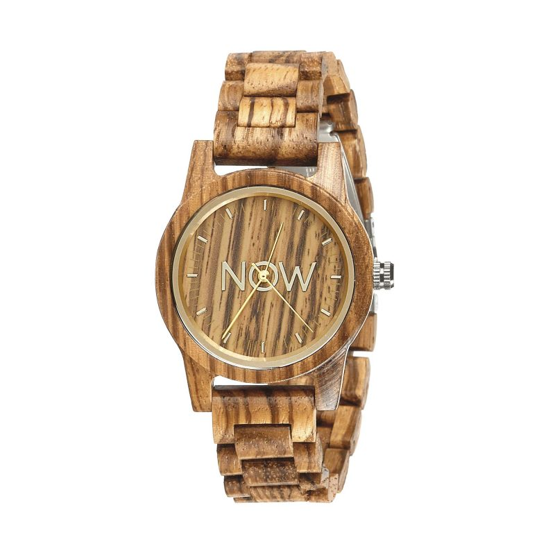 Wooden Now Watch - Sandalwood