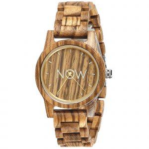Wooden Now Watch - Sandalwood kopia