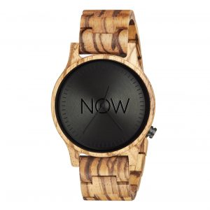 Wooden Now Watch - Zebrawood