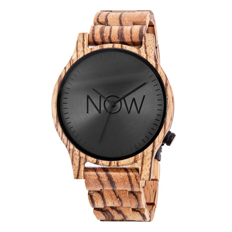 Wooden Now Watch - Zebrawood - Men's
