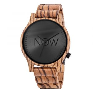 Wooden Now Watch - Zebrawood Wood wooden watch
