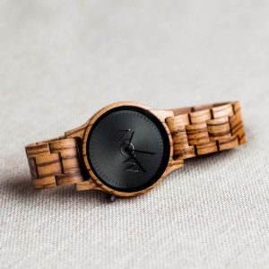 Wooden Now Watch - Zebrawwood wood watches