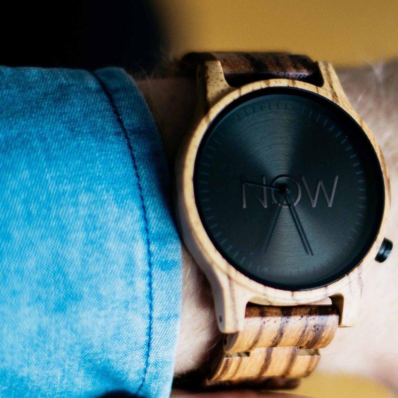 now watch zebrawood wooden watch