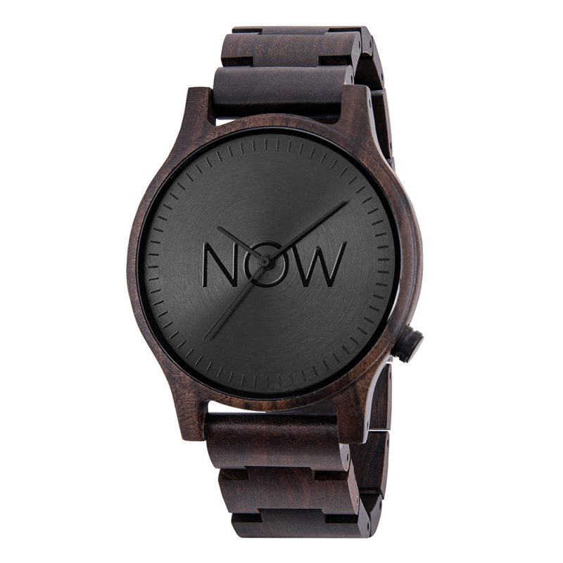 Now Watch - Black Sandalwood Wooden Watch