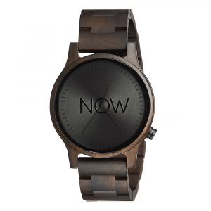 Wooden Now Watch - Black Sandalwood