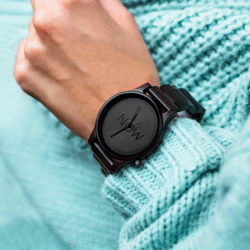 wooden watch black sandalwood