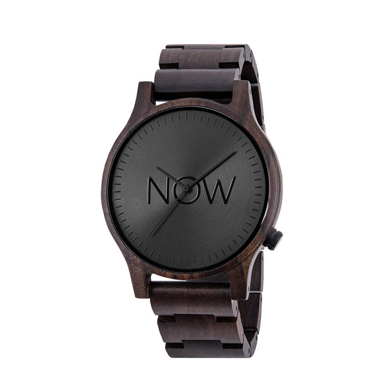 Now Watch - Black Sandalwood Wooden Woman's Watch