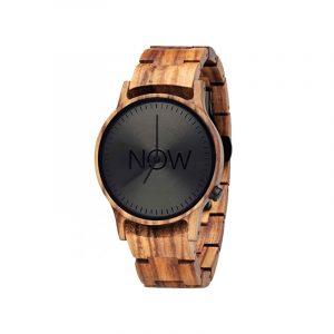 Now Wooden Watch zebra wood