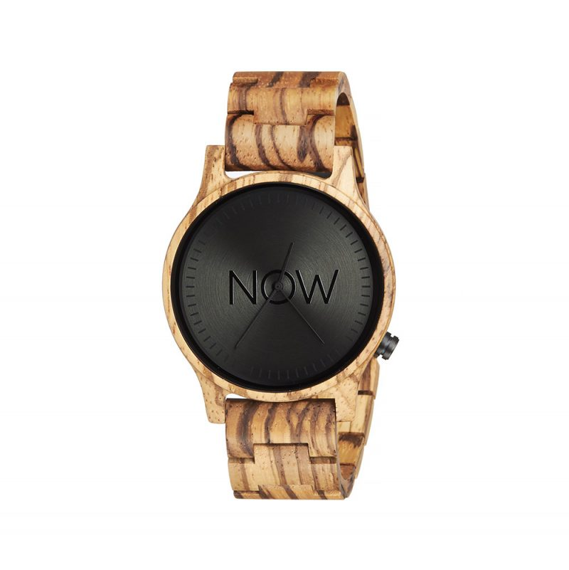 Wooden Now Watch - Zebrawood - Woman's Watch