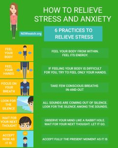 Inforgraphic 6 Best Ways To Relieve Stress And Anxiety