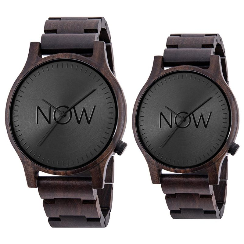 Now Watch - Black Sandalwood 2 wooden watches