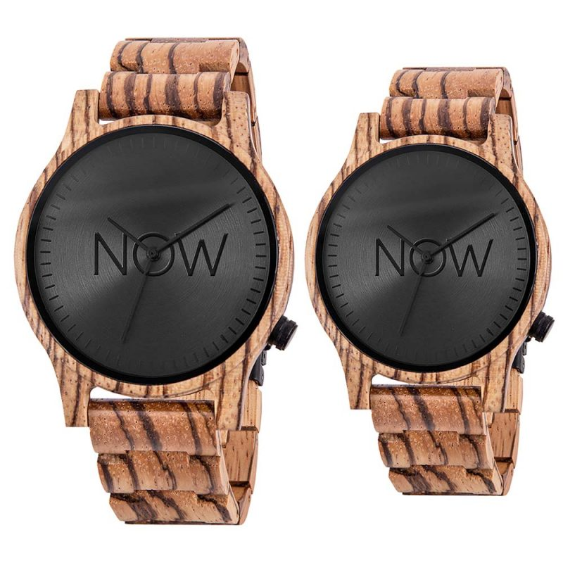 Wooden Now Watch - 2 Zebrawood Wood watches