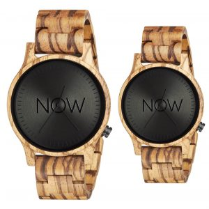 2 Wooden Now Watches - Zebrawood