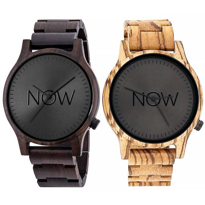 Wooden NOW Watch - Zebrawood + Sandalwood 2 wood watches