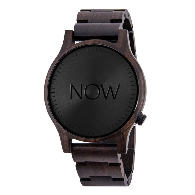 Now Watch - Black Sandalwood Wooden Watch - not real watch