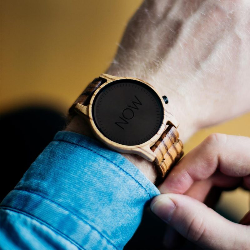Wooden NOW Watch Zebrawood - Men's - not real watch