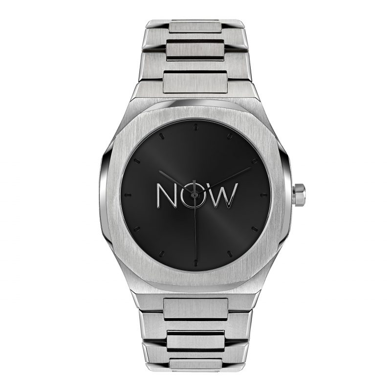 NOW Watch Silver Minimalistic Stainless Steel bracelet men's